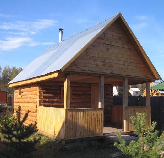 Крыша на баню своими руками фото